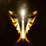 Angel. Futuristic background, wing illustration Stock Photography