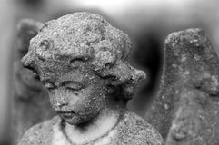 Angel. Rework of stone angel....less filtering and less sharpening have been done...rework of levels Royalty Free Stock Photos