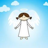 Angel. Cartoon angel flying in the heavens Royalty Free Stock Image