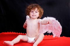Angel. Baby Angel, could be used for religion and childcare concepts stock photo