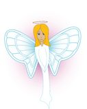 Angel. Sweet and pure heavenly angel illustration Stock Photo