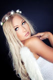 Angel. Portrait of a blonde in Angel costume Stock Images