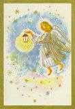 The Angel. With the Golden hair, holding a lighted lantern Stock Illustration
