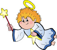 Angel. Cute  angel. color  file Royalty Free Stock Photography