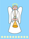 Angel. On a blue background with stars Royalty Free Stock Photography