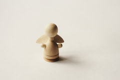 Angel. Isolated object  -  figure of an angel made of wood Royalty Free Stock Photography