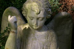 Angel. On a grave stock image