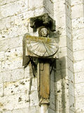 Angel. Medieval angel sculpture on the Chartres Cathedral in France stock images