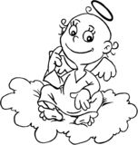 Angel. A little angel on the cloud Royalty Free Stock Images