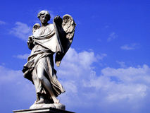Angel. Statue of an angel, Rome, Italy royalty free stock photography