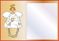 Angel. An empty page to write with a sweet little angel Stock Image