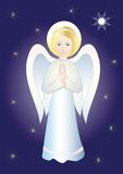 Angel. Vector illustration. Christmas decoration Stock Photo