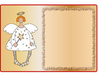 Angel. An empty page to write with a sweet little angel Royalty Free Stock Photos