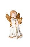 Angel. Handmade festive ornamental piece isolated Royalty Free Stock Photos