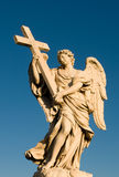 Angel. Statue at Sant'o bridge, in Rome Royalty Free Stock Photography