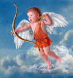 Angel. Baby cupid with angel wings Stock Images