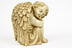 Angel. The angel figurine, statue, sculpture Stock Images