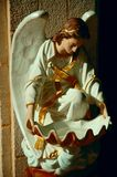 Angel. Statue holy water font Stock Photography