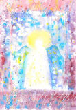 Angel. Hand painted figure of angel Royalty Free Stock Photography
