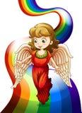 An angel above the rainbow Stock Photos