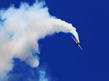 Angel Airshow azul en los petirrojos AFB Imagenes de archivo