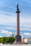 Angel on the Alexander Column on Palace Square Stock Photos