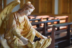 Angel. S Catholic in side church Royalty Free Stock Images