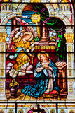 Angel Appearing Mary Stained Glass Church Stock Images