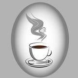Angel Appearing op Koffie Royalty-vrije Stock Afbeelding