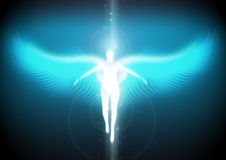 Angel ascending to heaven Royalty Free Stock Photos