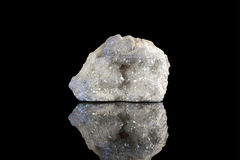 Angel Aura quartz. Sample of a beautiful Angel Aura quartz speciment isolated on black  background Royalty Free Stock Photography