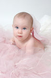 Angel Baby. Beautiful baby with blue eyes wearing fairy wings or angel wings Royalty Free Stock Photos