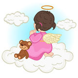 Angel baby girl on  cloud Stock Photo