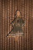 Angel on background of reed mat. Toy angel on background of reed mat Royalty Free Stock Image