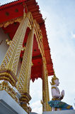 Angel at Bangpai Temple Nontaburi Thailand. This article on Thai temple art and architecture discusses Buddhist temples in Thailand. A typical Thai Wat, which is Stock Image