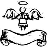 Angel With Banner Stock Photos