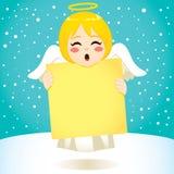 Angel Banner de canto ilustração royalty free