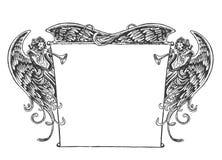 Angel Banner, stile d'annata Immagini Stock Libere da Diritti