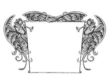 Angel Banner, Vintage Style. Royalty Free Stock Images