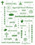 Angel Barachiel Word Cloud images stock
