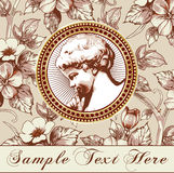 Angel. Beautiful frame with a flower ornament. Stock Photos