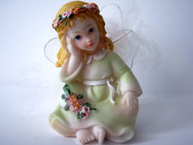 Angel. Beautiful angel, winged angel, statuette Royalty Free Stock Image
