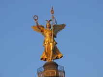 Angel of Berlin. The angel on the Siegess�ule in Berlin at the last sunrays Royalty Free Stock Photo