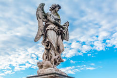 Angel by Bernini at the Castel Sant`Angelo Stock Photos