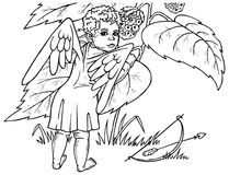 Angel and berry Royalty Free Stock Images