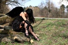 angel black Στοκ φωτογραφία με δικαίωμα ελεύθερης χρήσης