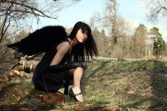 angel black Στοκ Φωτογραφία