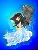 Angel with black hair Royalty Free Stock Image