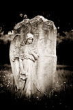 Angel on blank headstone Royalty Free Stock Photography
