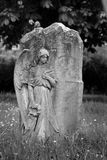 Angel on blank headstone Stock Photo
